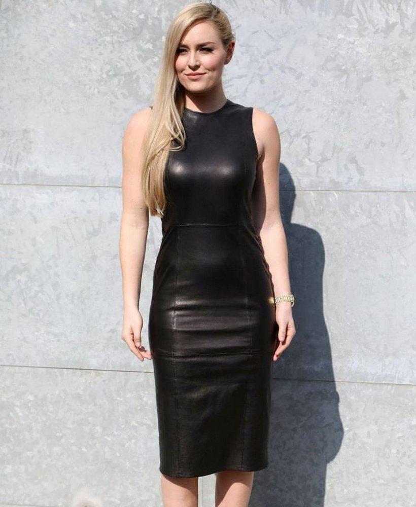 Кожаное платье: с чем носить