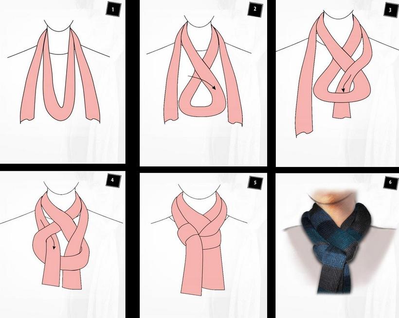 Как красиво завязать шарф картинки видео