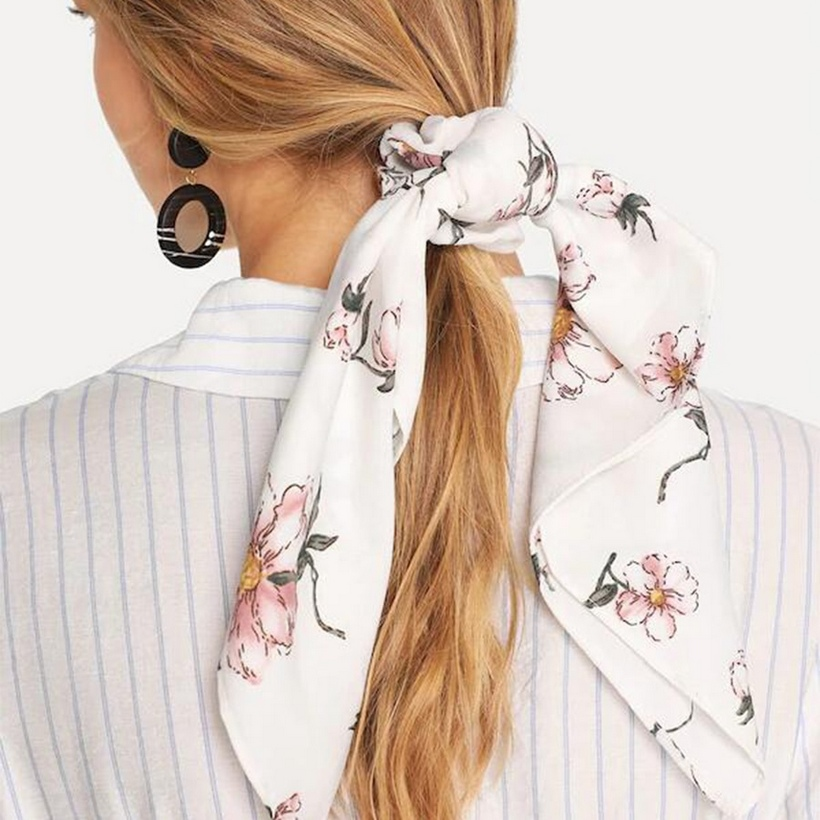резинка платок для волос прически