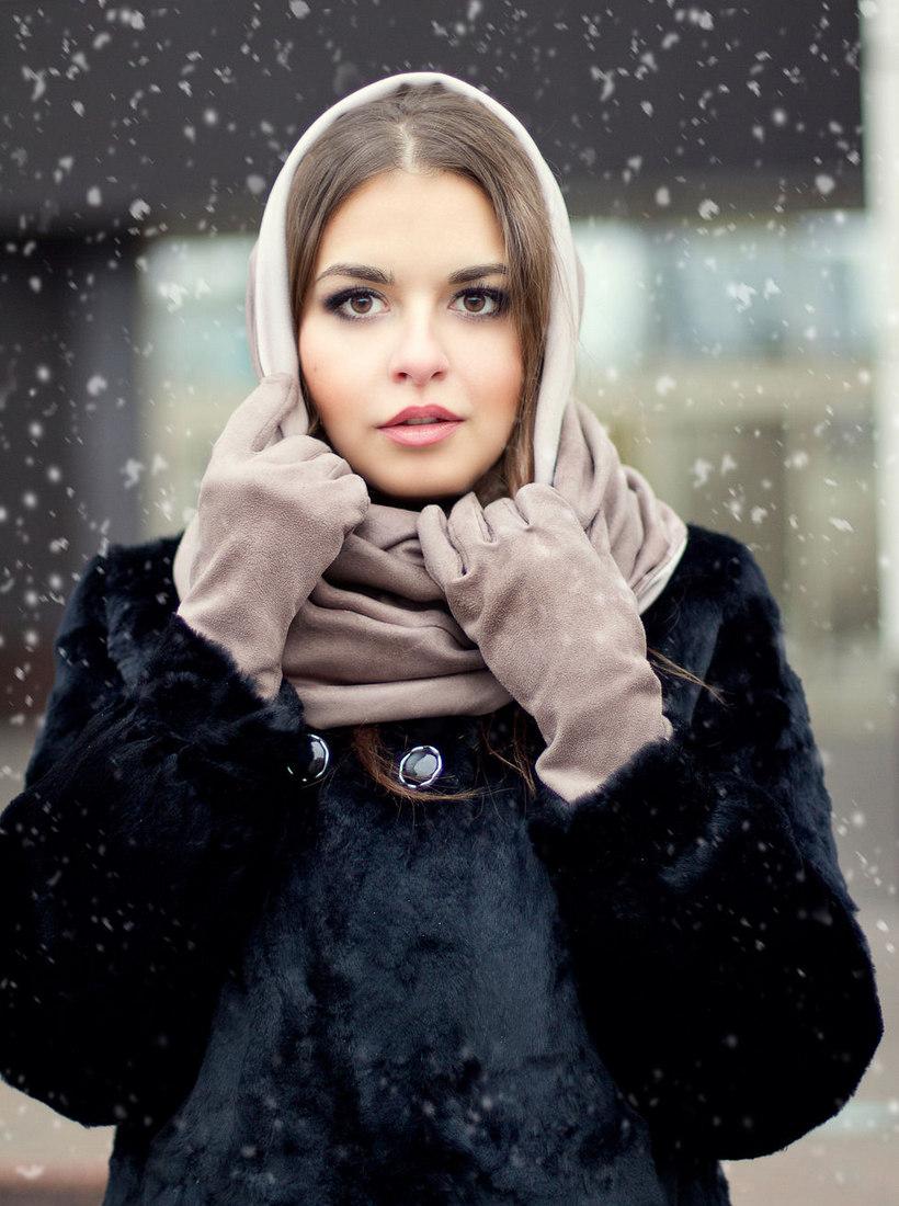 гостиная очень зимний шарф на голову фото когда сухая